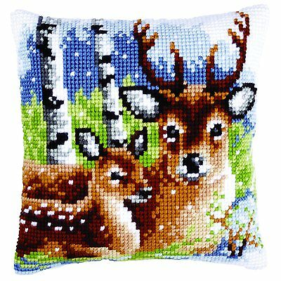 Vervaco - Cross Stitch Cushion Front Kit - Deer Family - PN-0147043