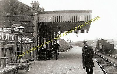 Clutton Railway Station Photo. Pensford - Hallatrow. Bristol to Radstock. (2)