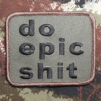 Do Epic Sh*t Usa Army Morale Isaf Tactical Forest Velcro® Brand Fastener Patch