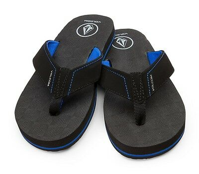 d4360e8e5bef4 NEW VOLCOM BIG YOUTH VICTOR FLIPS FLOPS THONGS BLUE BK SANDALS US size 3  item 24