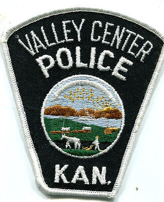 Valley Center Kansas Police Patch /// Old Style