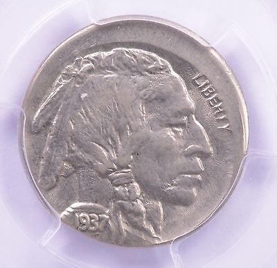 PCGS 5c 1937 Buffalo Nickel 5% Off-Center MS-63
