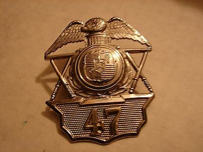 Original WW2 City&County of Honolulu, HAWAII Police Hat Badge #47 & Button Set