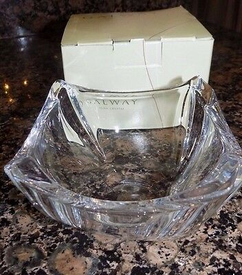 Galway Irish Crystal Dune Party Bowl 45076 4""