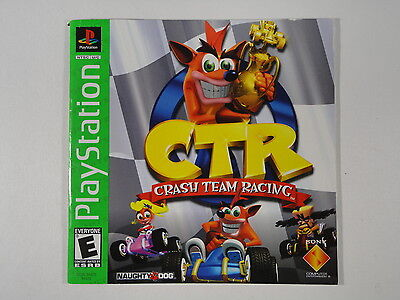 ¤ Crash Team Racing CTR ¤  (MANUAL ONLY) GREAT PlayStation 1 PS1 PSX
