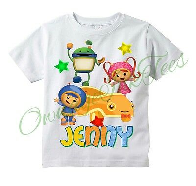 Team Umizoomi Car Custom t-shirt Personalize, ADD NAME, All sizes available