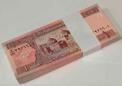 Afghanistan 1 Afghanis P 64 2002 Unc Bundle Of (100 Notes)