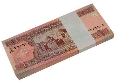 Afghanistan 2 Afghanis P 65 2002 Unc Bundle Of (100 Notes)