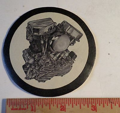 Vintage Harley Panhead leather patch collectible old HD motorcycle engine emblem