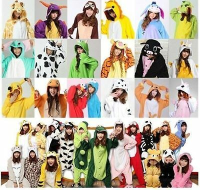 Hot Unisex Adult Pajamas Kigurumi Cosplay Costume Animal Onesie Sleepwear Suit .