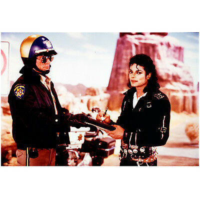 Michael Jackson King of Pop on Set Getting Ticket From Officer 8 x 10 Inch Photo