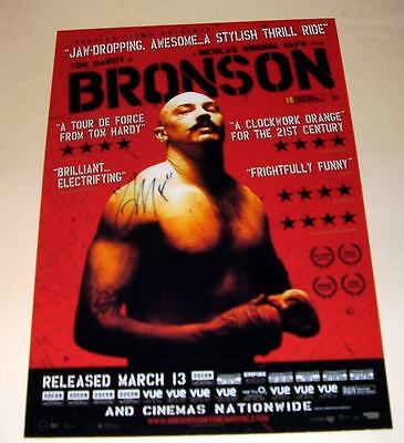 "Bronson Pp Signed Photo Poster A4 12""x8"" Tom Hardy"