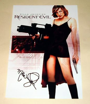 "Resident Evil Pp Signed Photo Poster A4 12""x8"" Milla Jovovich"