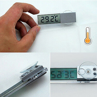 Lcd Digital Temperature Meter Indoor Outdoor Suction Car Auto Thermometer Comely