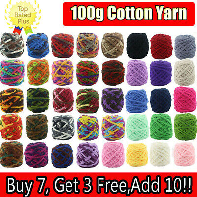 100G ball Super Chunky yarn 1Ply soft chenille cashmere Milk velvet Wool lot of