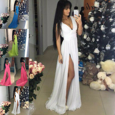 Sexy Women's Long Evening Cocktail Party Ball Prom Gown Formal Bridesmaid Dress