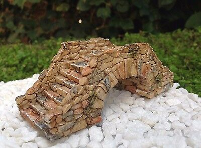 Miniature Dollhouse FAIRY GARDEN Accessories ~ Brown Cobblestone Bridge ~ NEW