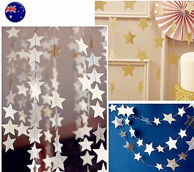 4M Paper Star Wedding Birthday Party Baby Kids Room Hanging Decorations Garland