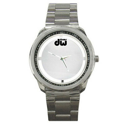 DW Coated Clear Bass Drum Head Style Sport Metal Watch