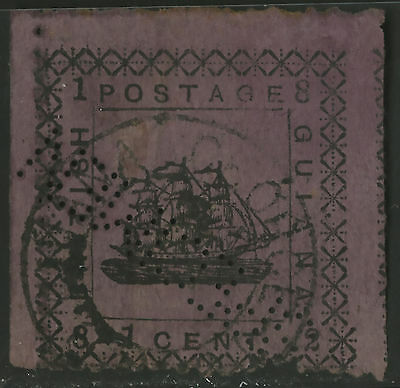 British Guiana  1882  Scott # 103  USED - Part Hinge