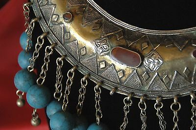 Old Afghanistan Silver Plated Tribal Necklace …Kuchi Pashtun