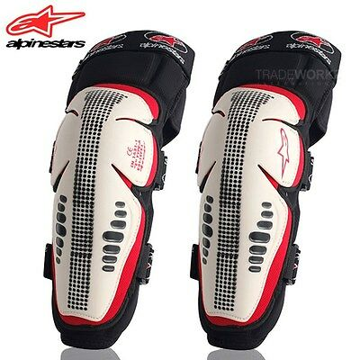 1 Pair ALPINESTARS Off-Rd Motorcycle Motocross Racing Knee Pads Protector Guards