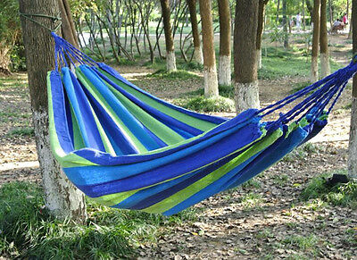 Nylon Fabric Hammock For Indoor Outdoor Use Parachute Hot Double Portable Person