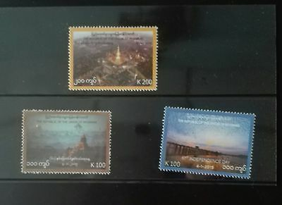 Mint Myanmar Burma stamps 67th anniversary of Independence Day