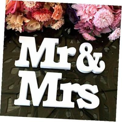 ''Mr & Mrs'' ''LOVE'' Wooden Letters Wedding Top Table Sign Gift Decor White New