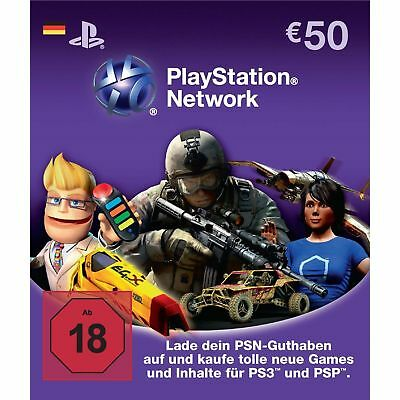 50€ Euro Playstation Network DE Card Karte PSN PS3 Code - Lieferung per Email
