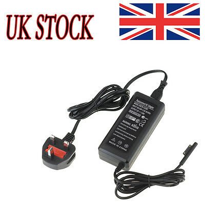 Power Adapter Wall AC Charger for Microsoft Surface Pro 3 Tablet PC Windows 8 UK