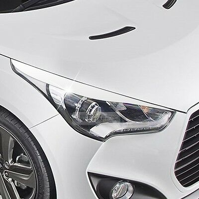 Head Light Eye Line Molding Cover 2Pcs Slic Silver for HYUNDAI 2011-17 Veloster