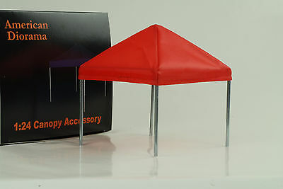 Tent Canoby Set Accessorie Equipment chrome 1:24 American Diorama without