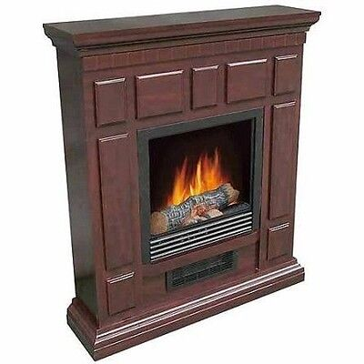 Electric Fireplace Heater Adjustable 1500w Heat Free Standing No Remote Control