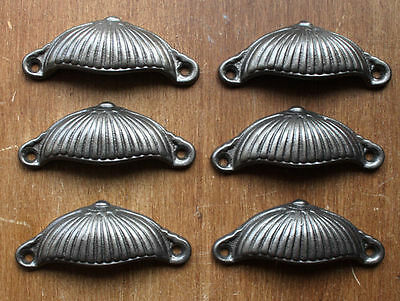 6 x DRAWER HANDLES CUP PULLS CABINET KNOB CUPBOARD KITCHEN VICTORIAN DP01(x6)