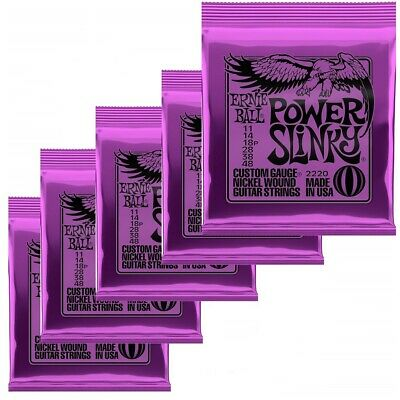 Ernie ball 2220 Power Slinky Electric guitar strings Gauge 11- 48  -  6-Sets