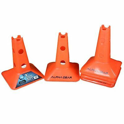 NEW 6Pk Pyramid Agility and Marker Hats with Hurdle Holes
