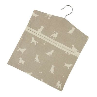 Dexam Happy Hounds Hanging Peg Storage Bag in Clay
