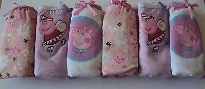 Peppa Pig Girls Pink Lilac Pants Briefs Knickers Underwear x 6 Age 2/3 4/5 6/8