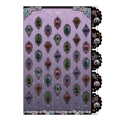 SUN-STAR Sailor Moon Crystal A4 Paper 5 Pockets Indexed File Folder Cover Purple
