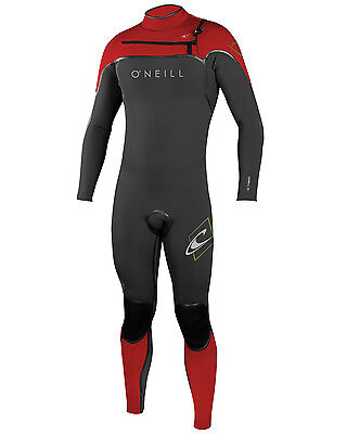 O'Neill Psycho 1 Mens 3/2mm Wetsuit (2016) in Grey & Red - On Sale Now