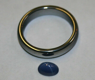 Lab Grown Blue Star Sapphire Loose Gemstone 5X7 Oval 1.2Ct Gem Sa59