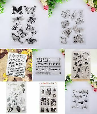 Flying Girl Transparent Silicone Clear Rubber Stamp Sheet Cling Scrapbooking DIY