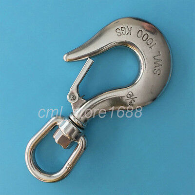 304 Stainless Steel cargo hook 1Ton  steamship Eye Hook rotating