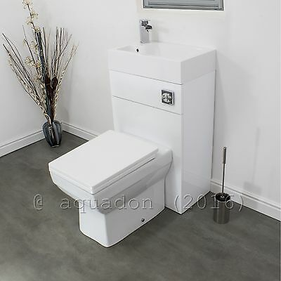 Bathroom BTW Space Saving WC Toilet & Basin Sink Combination Cloakroom