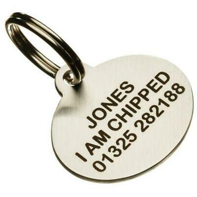 Quality Stainless Steel Pet tag - 24mm width SMALL