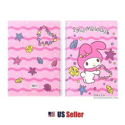 Sanrio My Melody School Supply Sea Bubble A4 Spiral Notebook Note Pad : Pink