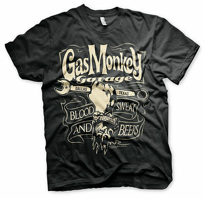 Gas Monkey Garage Wrench Label Schlüssel Blood Sweat & Beers Männer Men T-Shirt