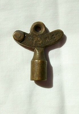 Antique Solid Brass Tuning Key Signed PLC Steampunk Metal