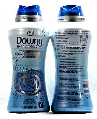 2 Downy Fresh Protect In Wash Odor Defense With Febreze 36.2 oz.